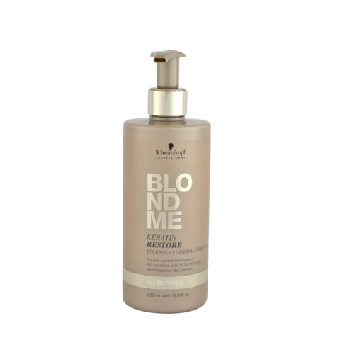 Schwarzkopf Blond Me Keratin Restore Bonding Cleansing Conditioner 500ml - balm of reconstruction