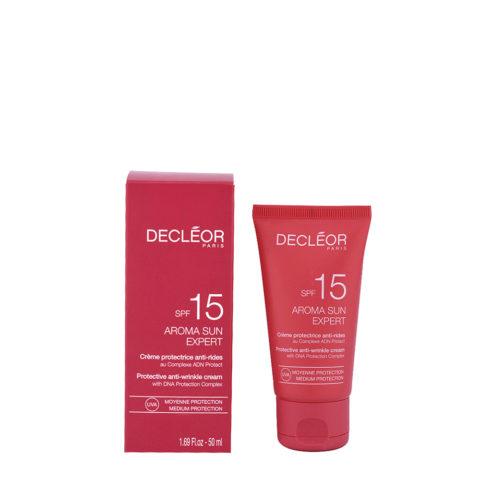 Decléor Aroma Sun Crème Protectrice Anti-rides SPF15, 50ml - protective anti-wrinkle cream
