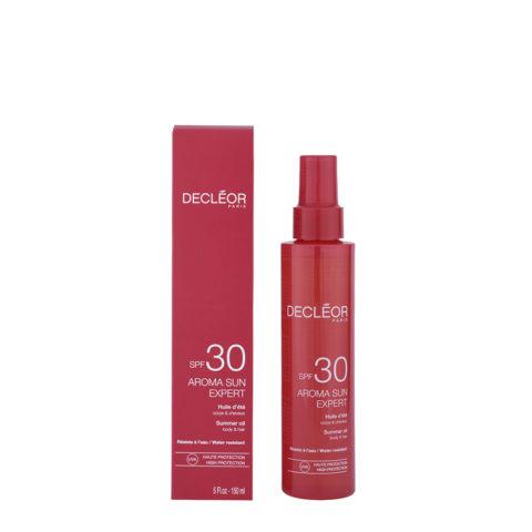 Decléor Aroma Sun Huile d'été corps et cheveux SPF30, 150ml - summer oil body&hair