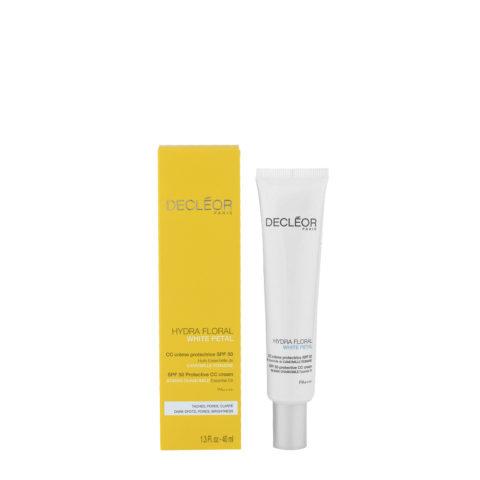 Decléor Hydra Floral White Petal CC Crème Protectrice SPF50, 40ml - protective cream