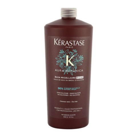 Kerastase Aura Botanica Bain Micellaire Riche 1000ml - gentle shampoo for dull and coarse hair