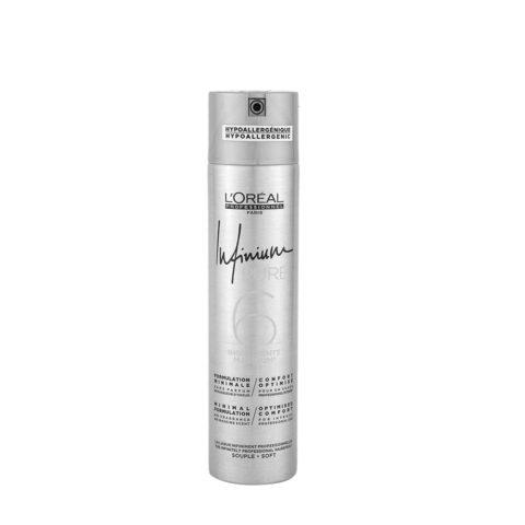 L'Oreal Hairspray Infinium Pure Soft 300ml - fine  no fragrance hairspray
