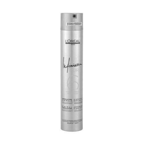 L'Oreal Hairspray Infinium Pure Soft 500ml - fine no fragrance hairspray