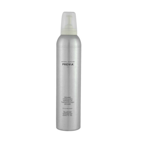 Previa Finish Organic Hydrolized Verbascum Thapsus Flower Mousse 300ml - foam without parabens