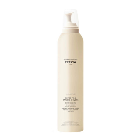 Previa Finish Organic Hydrolized Verbascum Thapsus Flower Mousse 300ml - extra strong foam