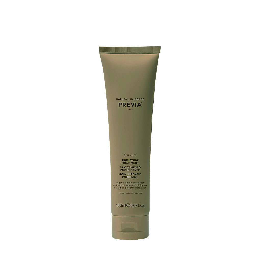 Previa Green Clay Purifying Treatment 150ml - rebalancing hydrating and soothing