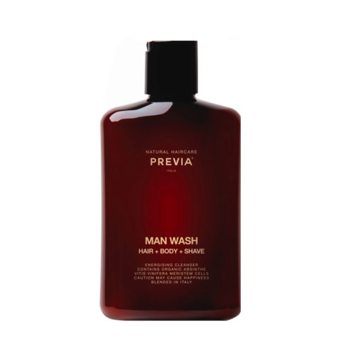 Previa Man Wash hair body shave 250ml - man shower shampoo