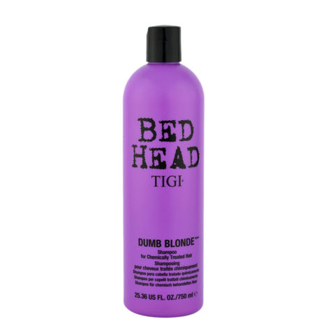 Tigi Bed Head Dumb Blonde Shampoo 750ml - treated blonde hair