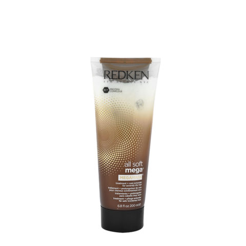 Redken All soft mega Megamask 200ml - intensive treatment for medium to coarse severely dry hair
