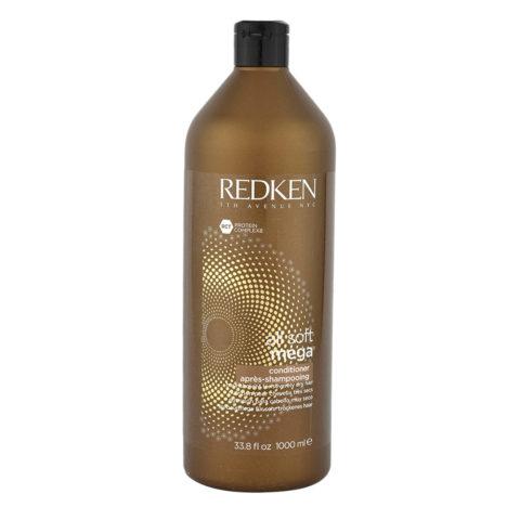 Redken All soft mega Conditioner 1000ml - nourishing medium to coarse dry hair
