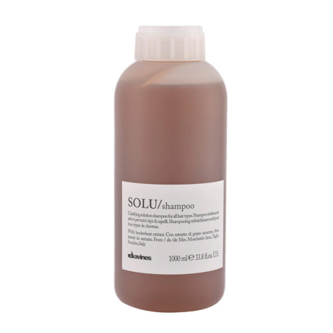 Davines Essential hair care Solu Shampoo 1000ml - refreshing shampoo