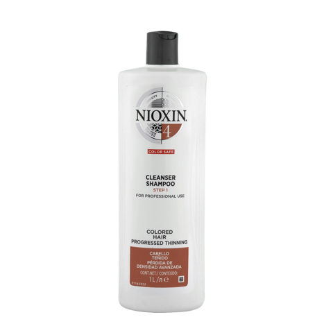 Nioxin System4 Cleanser Shampoo 1000ml - colored hair - progressed thinning