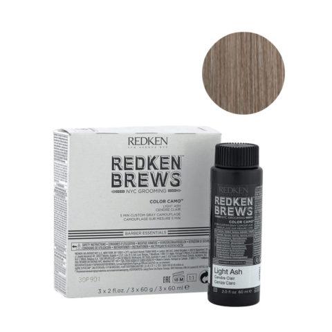 Redken Brews Man Color camo Light ash 3x60ml - colour for grey and white hair
