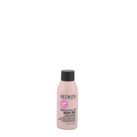 Redken Diamond Oil Glow Dry Gloss Shampoo 50ml - for brighter hair, for all hair types