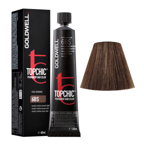 6BS Smoky couture brown light Goldwell Topchic Cool browns tb 60ml