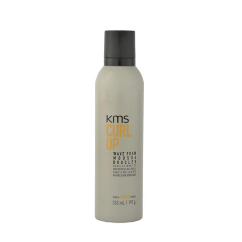 KMS Curl Up Wave Foam 200ml - Wave Hair Mousse