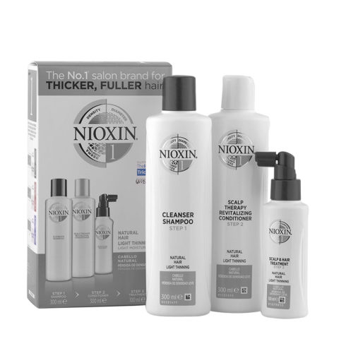 Nioxin System1 XXL Antihairloss Kit Shampoo 300ml + Conditioner 300ml + Treatment 100ml