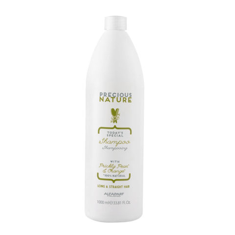 Alfaparf Precious Nature Shampoo With Prickly Pear & Orange For Long/Straight Hair 1000ml
