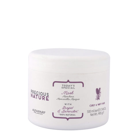 Alfaparf Precious Nature Mask With Grape & Lavender For Curly & Wavy Hair 500ml