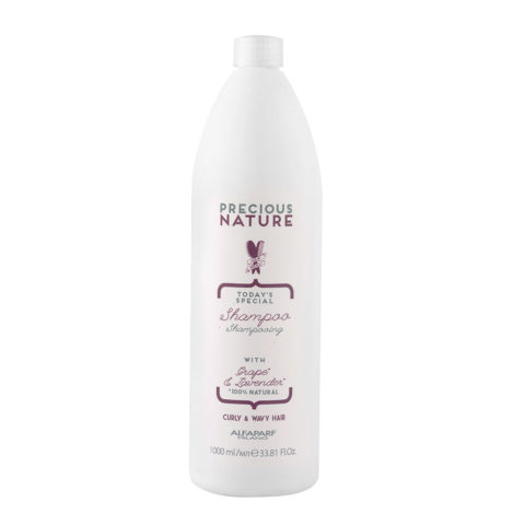 Alfaparf Precious Nature Shampoo With Grape & Lavender For Curly & Wavy Hair 1000ml