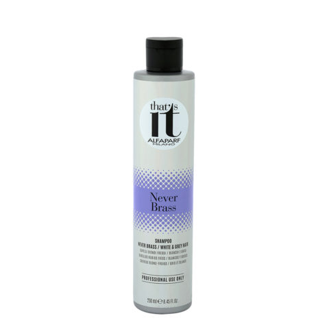 Alfaparf That'S It Never Brass Shampoo Cool Blondes White & Grey 250ml