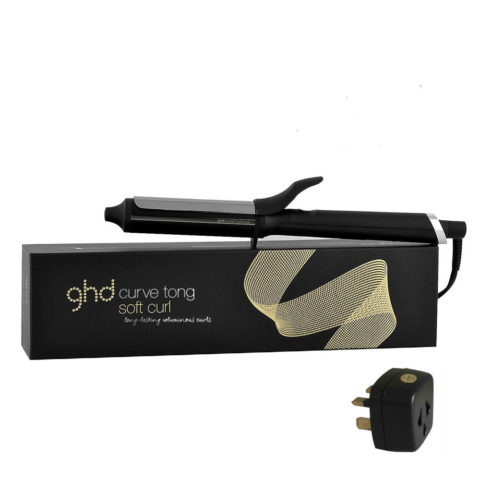 GHD Curlers Curve Soft curl tong with adapter