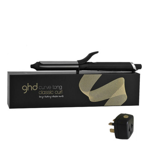 GHD Curlers Curve Tong Classic Curl with adapter
