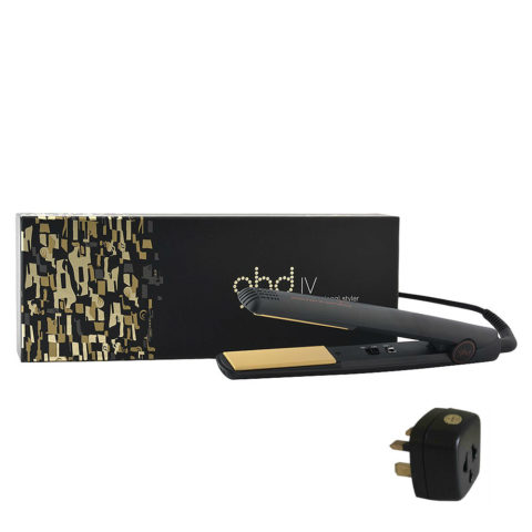 Ghd IV Black Styler Limited Edition with adapter - black   ADAPTER UK