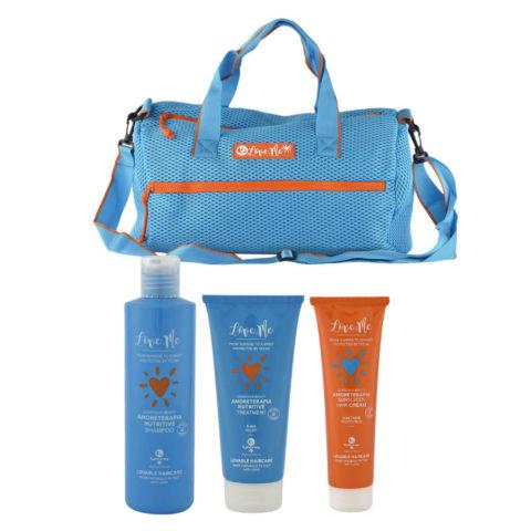 Tecna Sun Amoreterapia Shampoo 250ml Treatment 200ml Cream 150ml free beach bag