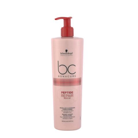 Schwarzkopf BC Bonacure Peptide Repair Rescue Cleansing Conditioner 500ml - shampoo and conditioner