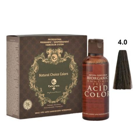 4.0 Medium brown Tecna NCC Biorganic acid color 3x130ml