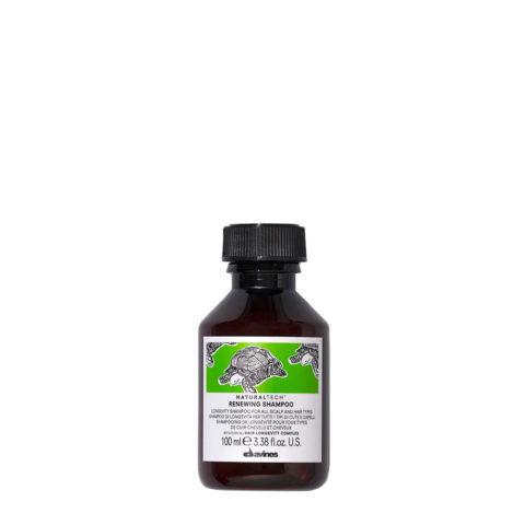 Davines Naturaltech Renewing Shampoo 100ml - longevity shampoo for all hair types
