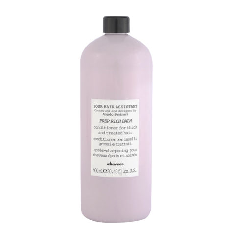 Davines YHA Prep Rich balm 900ml - conditioner for thick and treated hair