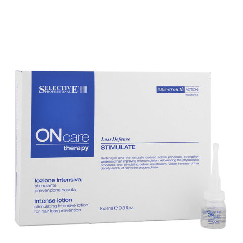 Selective On care Hair loss Stimulate intense lotion 8x8ml - Intensive hair loss prevention lotion