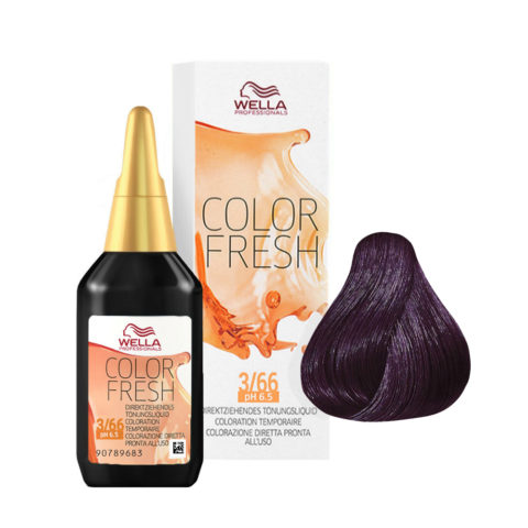3/66 Dark brown intense violet Wella Color fresh 75ml