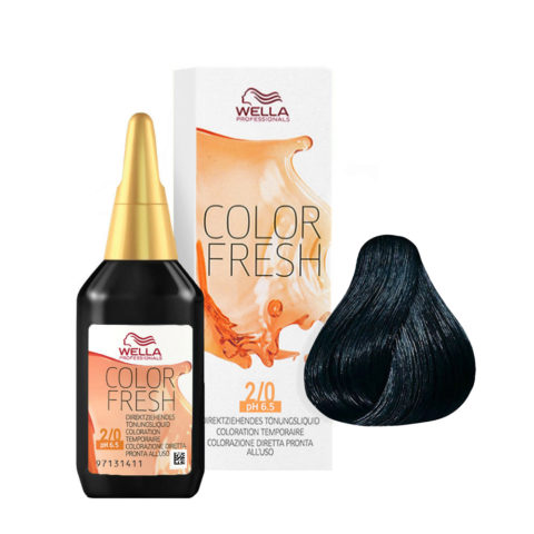 2/0 Black Wella Color fresh 75ml