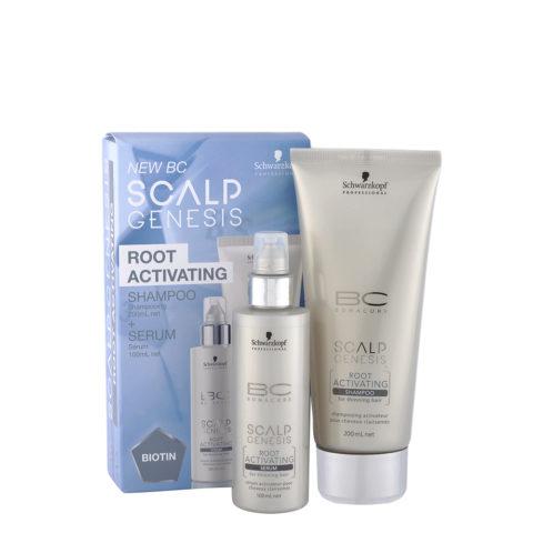 Schwarzkopf BC Scalp Genesis Root Activating Pack Shampoo 200ml   Serum 100ml