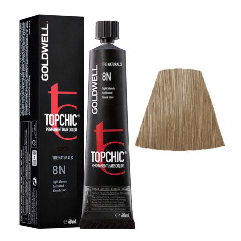 8N Light blonde Goldwell Topchic Naturals tb 60ml