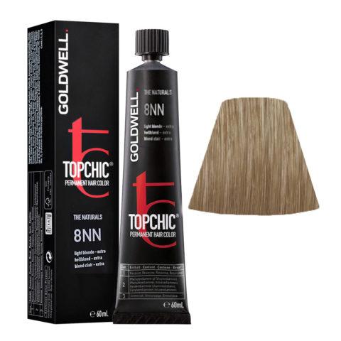 8NN Light blonde extra Goldwell Topchic Naturals tb 60ml