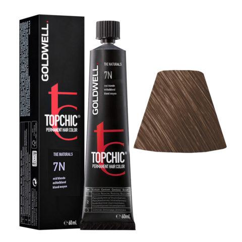 7N Mid blonde Goldwell Topchic Naturals tb 60ml