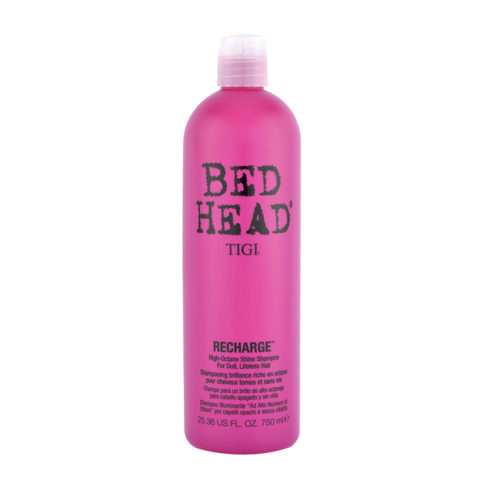 Tigi Bed Head Recharge Shampoo 750ml - high-octane shine shampoo