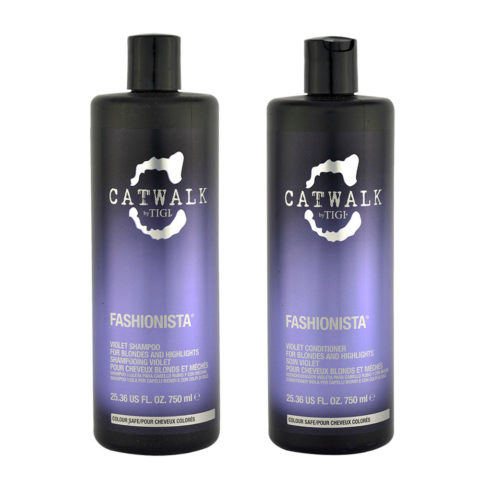Tigi Catwalk Fashionista Violet kit shampoo 750ml conditioner 750ml For Blonde Hair