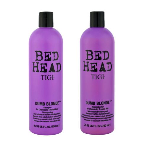 Tigi Bed head Dumb blonde Kit Shampoo 750ml + Conditioner 750ml For Chemically Treated Blonde Hair