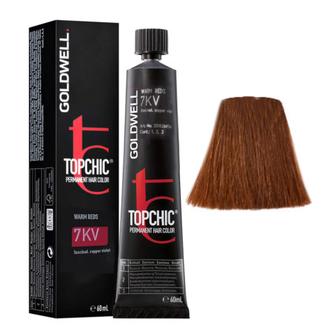 7KV Fascinating copper violet Goldwell Topchic Warm reds tb 60ml