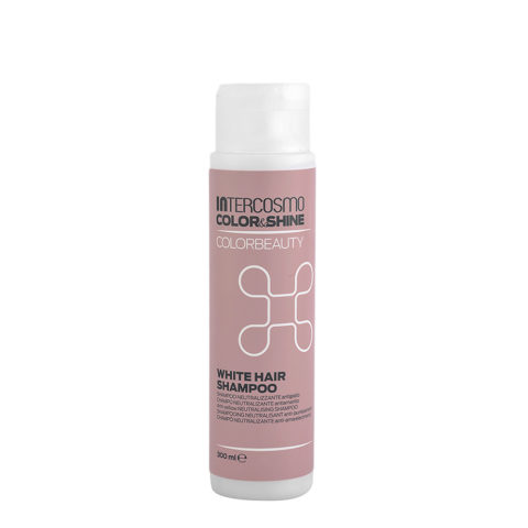 Intercosmo Color & Shine Color Beauty White Hair Shampoo 300ml - anti-yellow shampoo