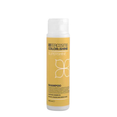 Intercosmo Color & Shine Supershine Shampoo 300ml - nourishing shining shampoo with linseed
