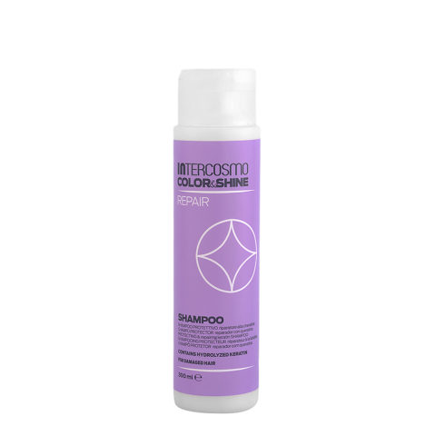 Intercosmo Color & Shine Repair Shampoo 300ml - protecting & repairing keratin shampoo