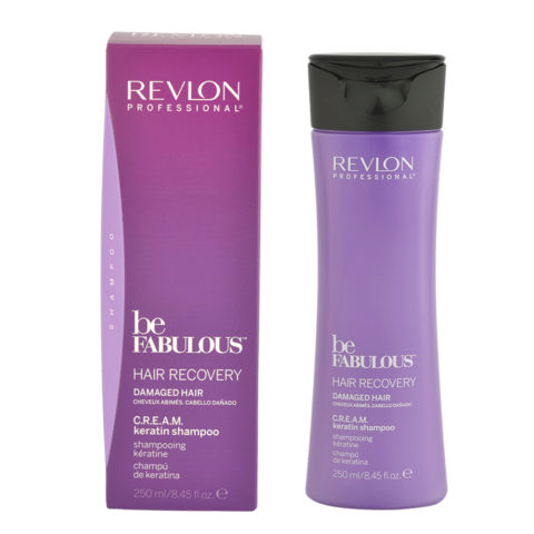Revlon Be Fabulous Hair Recovery Cream Keratin Shampoo 250ml - restructuring shampoo