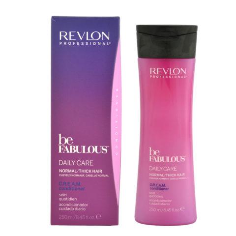Revlon Be Fabulous Daily Care Normal Cream Condit 250ml - regenerating balm medium to large hair