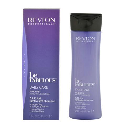 Revlon Be Fabulous Daily care Fine hair Cream Lightweight shampoo 250ml - light shampoo fine hair
